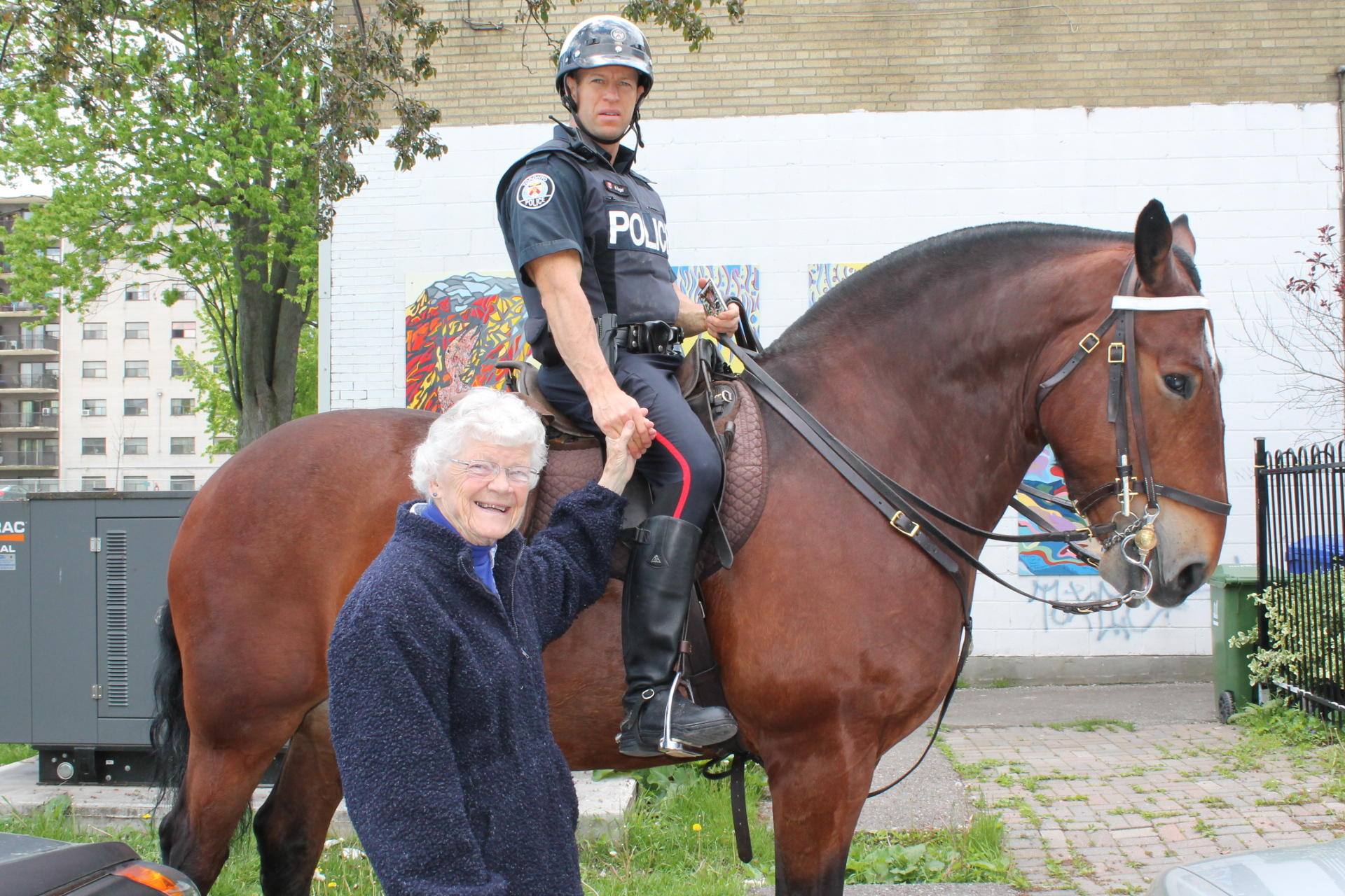 Person and Police person on a horse